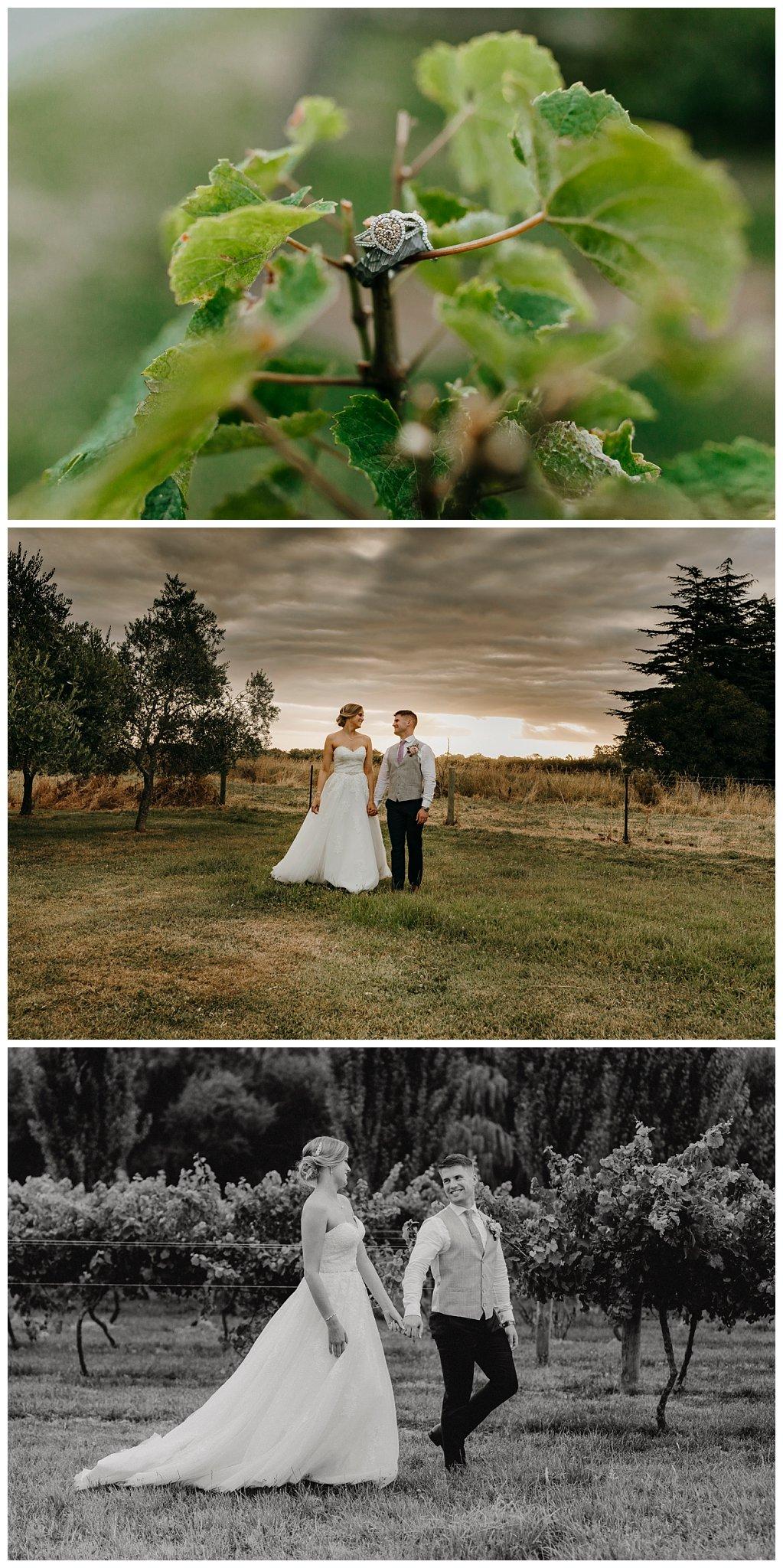 Christchurch Wedding Photographer layflat photo of bride details bouquet jewellery bridal Rebecca Claridge Photography Riccarton House