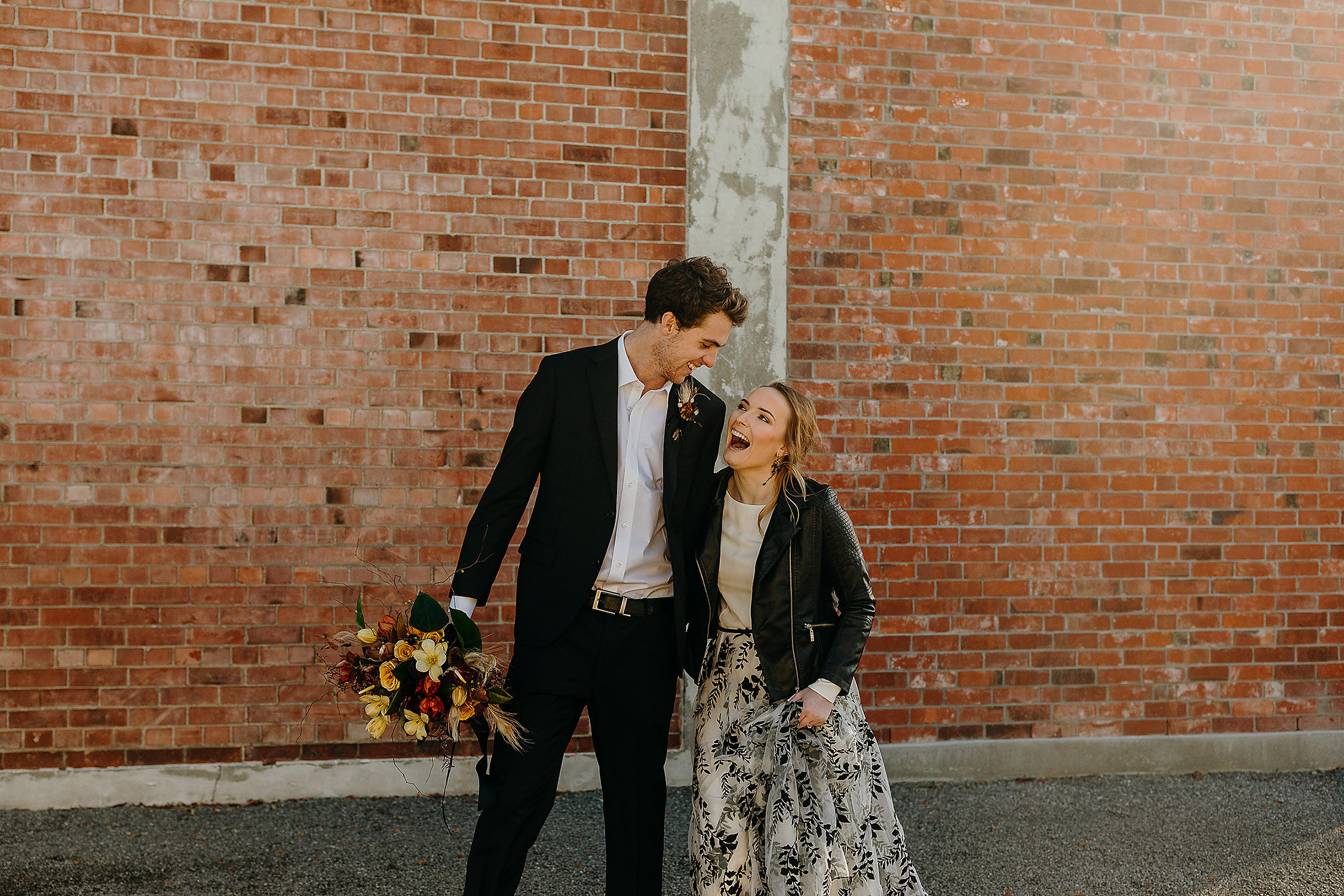bride and groom styled shoot chic industrial wedding photographer christchurch