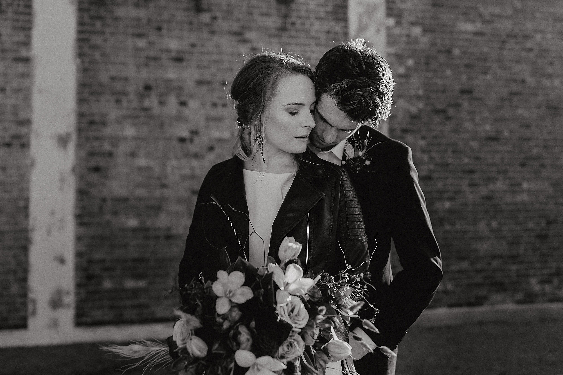 edgy chic wedding christchurch wedding photographer