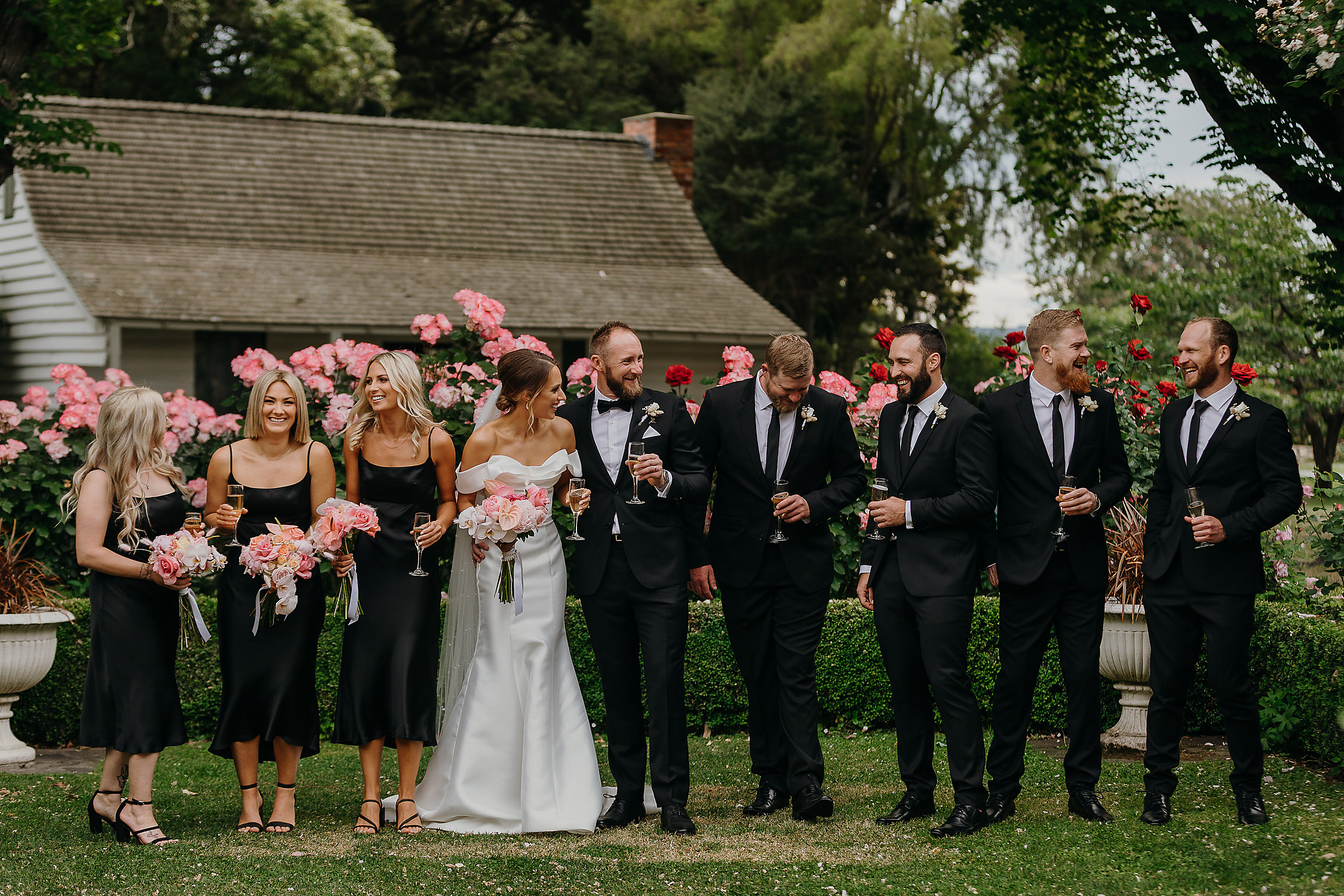 wedding bridal party riccarton house wedding photographer christchurch