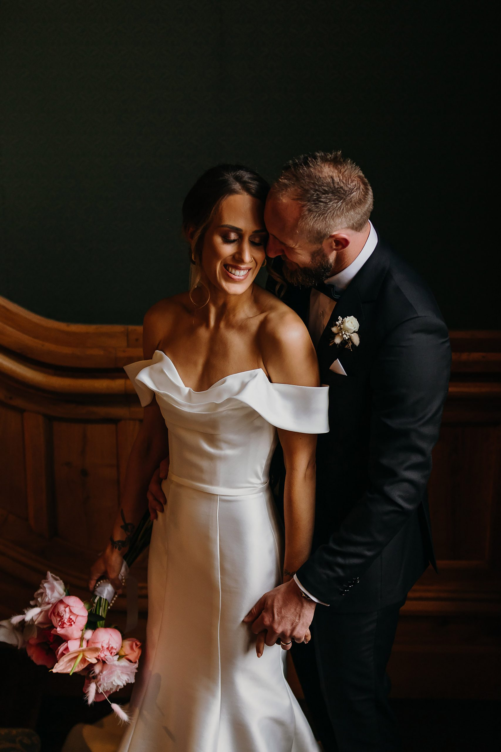 bride and groom portrait riccarton house wedding photographer christchurch