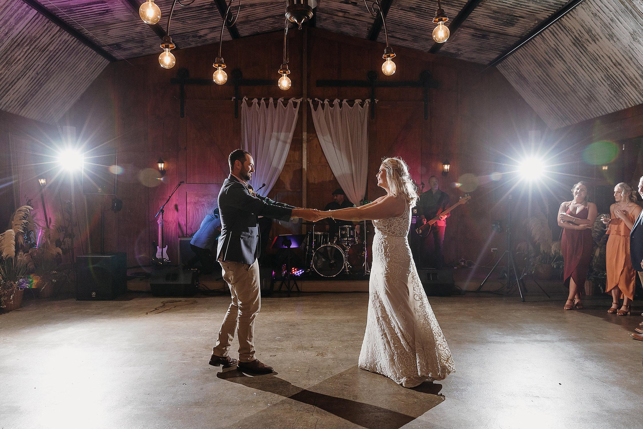 bride and groom first dance wedding photographer christchurch