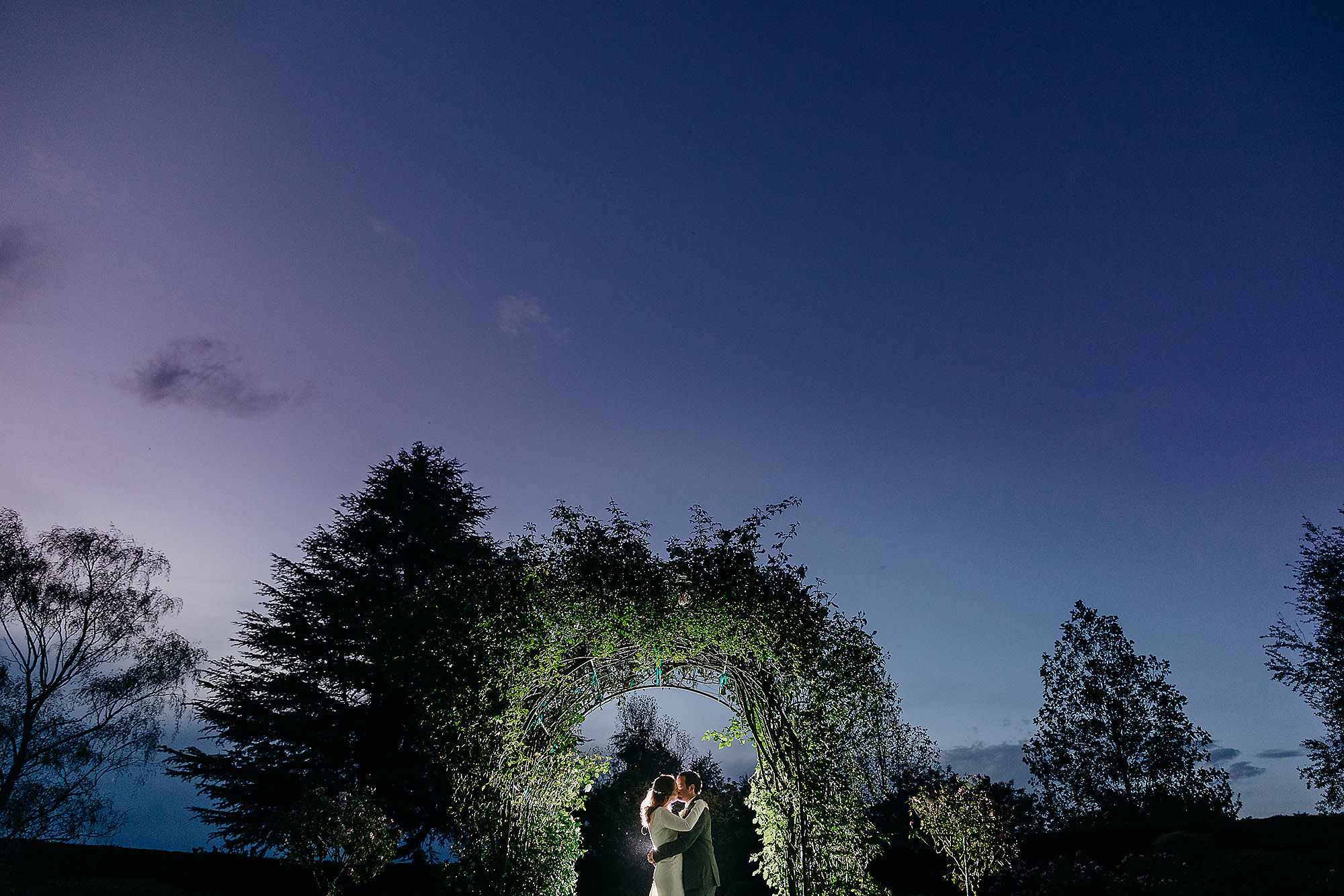 bride and groom creative night photo at ashburton hotel Christchurch Wedding Photographer