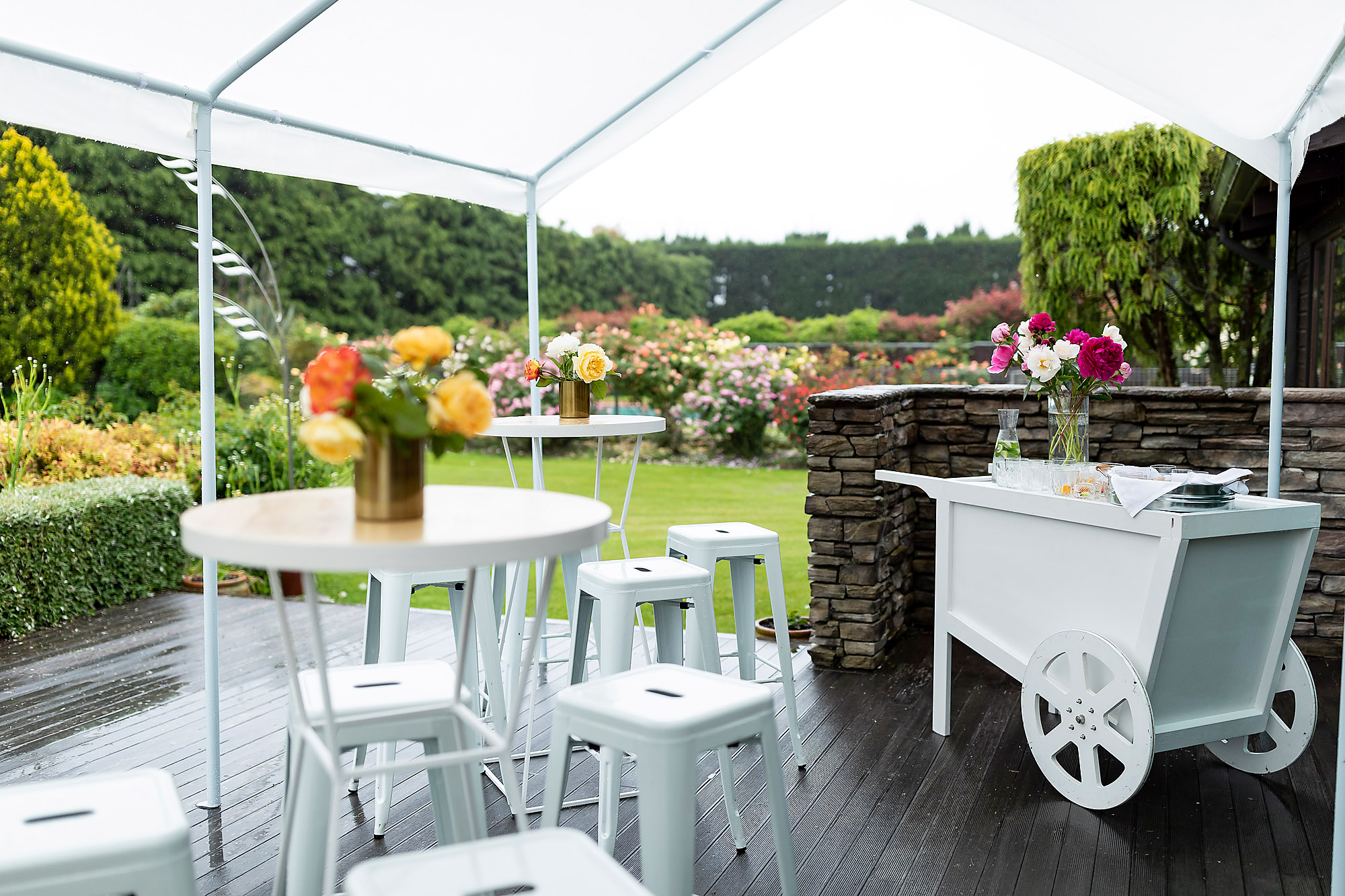 Christchurch Commercial Photographer event set up garden party