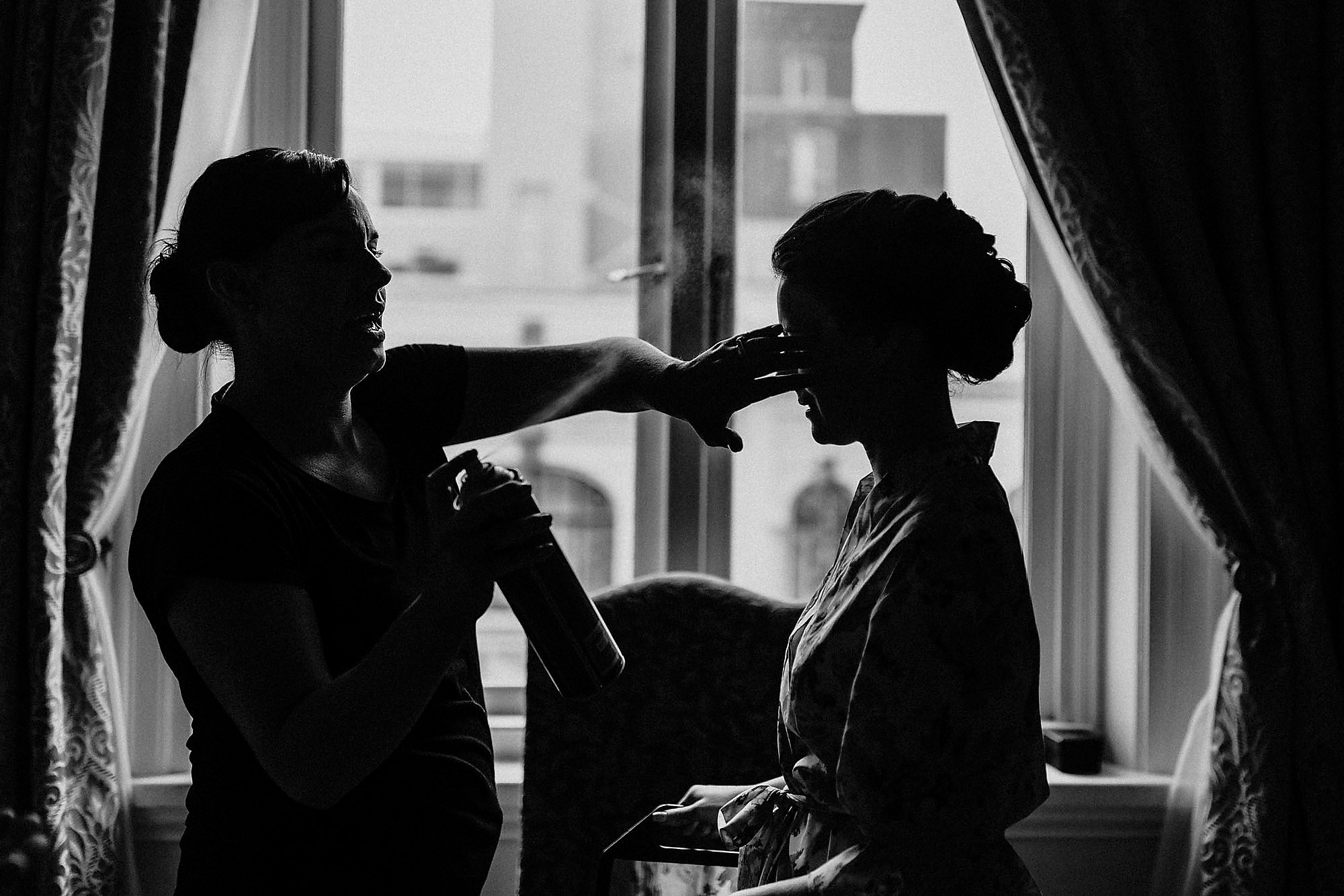 heritage hotel bride getting ready christchurch wedding photographer