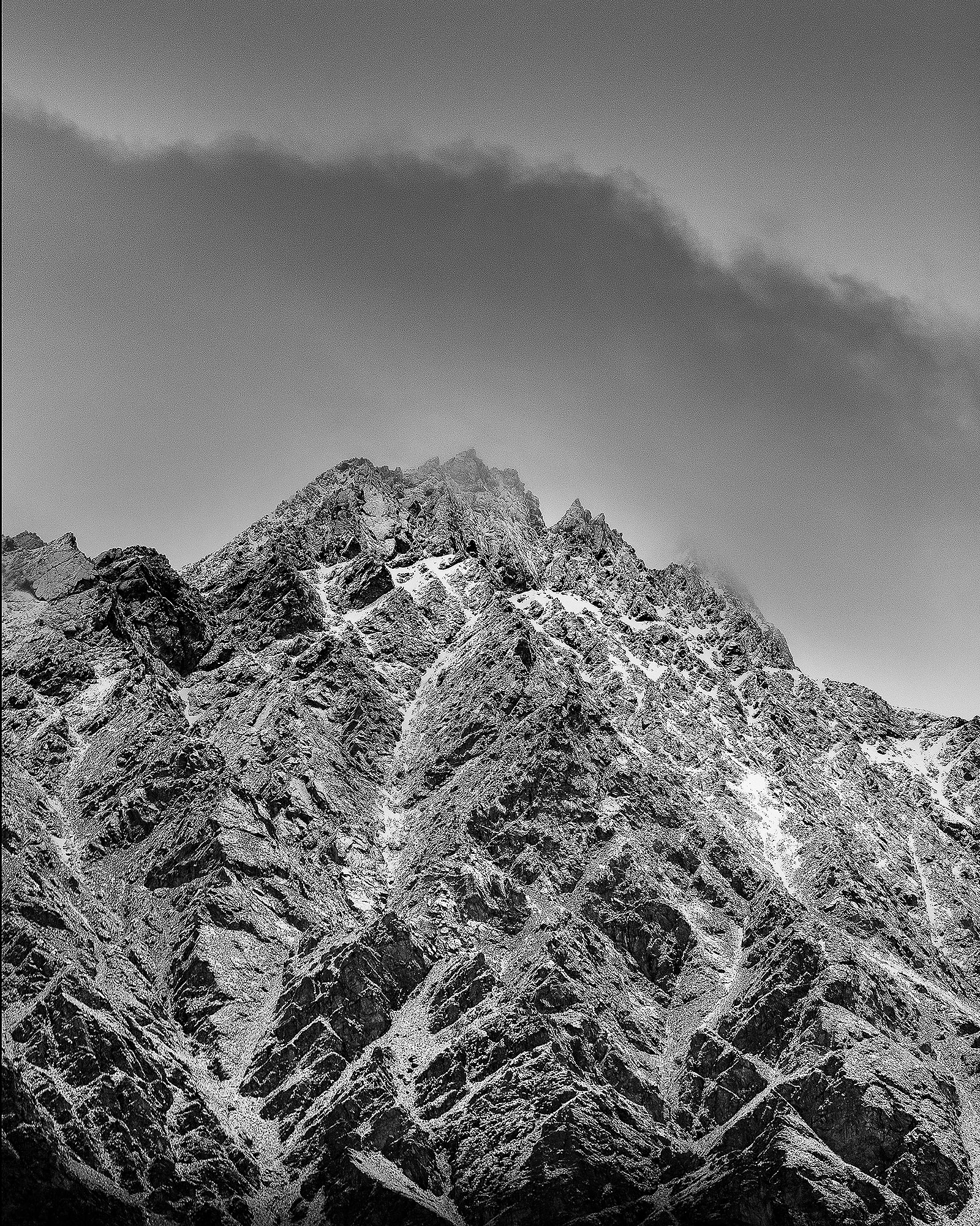 Landscape   Photography Rebecca Claridge Photography black and white mountain snow rugged   peaks contrast